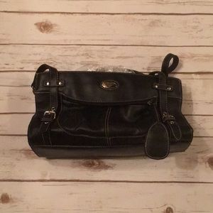 Women's or juniors simulated leather purse black